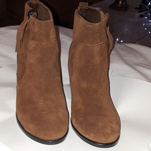 Sam & Libby leather booties 6.5 NWOT